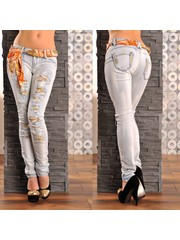 Skinny Jeans in Trendy Gewassen Look