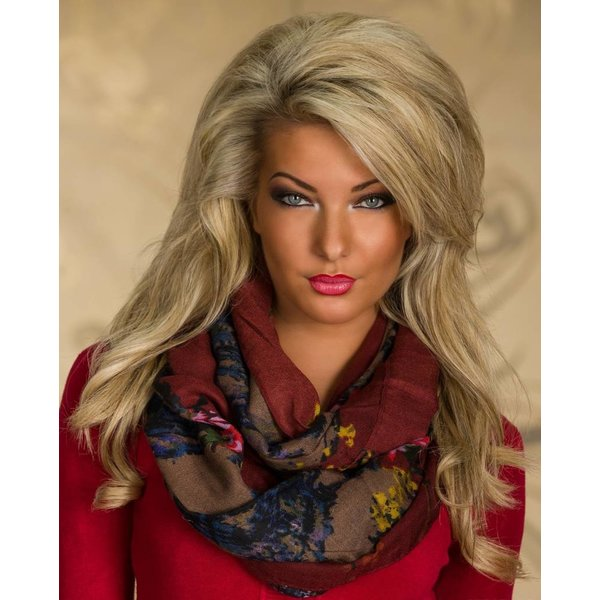 Kleurrijke Sjaal Multicolor / Bruin