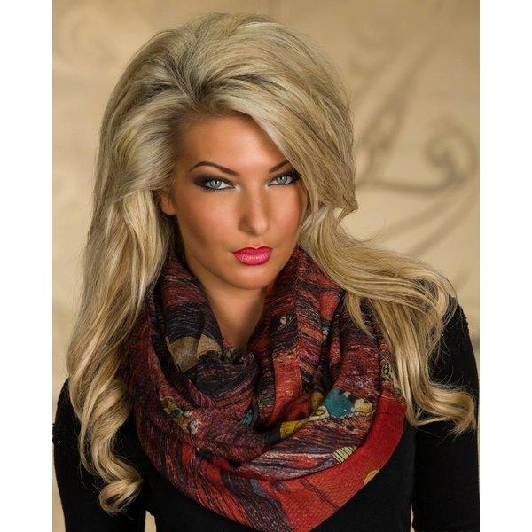 Kleurrijke Sjaal Multicolor / Rood