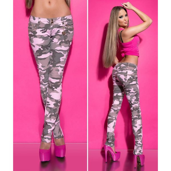 Koucla Skinny Broek in Camouflage-Look