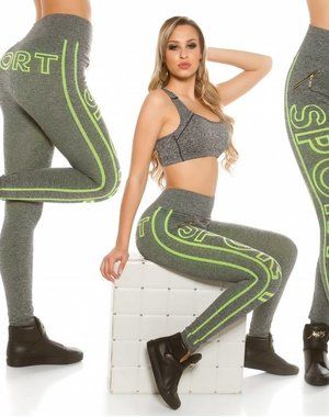 Trendy Workout Legging Neon Geel