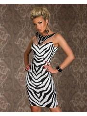 Mooi & Elegant Fashion Jurk Wit / Zwart