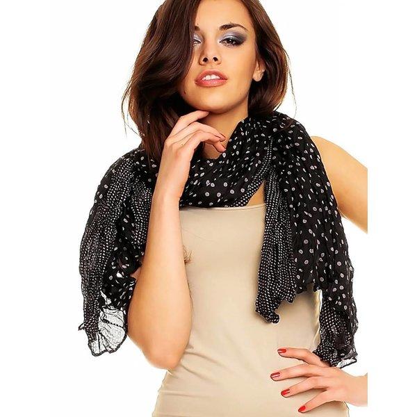 Soepelzachte Sjaal Wit / Zwart