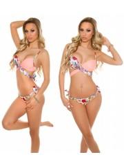 Fashion Bikiniset met Bloemenprint Apricot