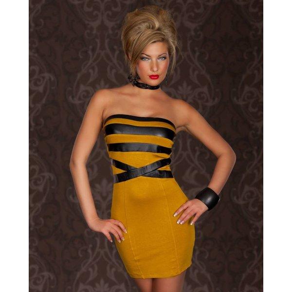 Getailleerd Strapless Fashion Mini Jurk
