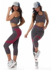 2-Delige Gym Legging met Tanktop Pink