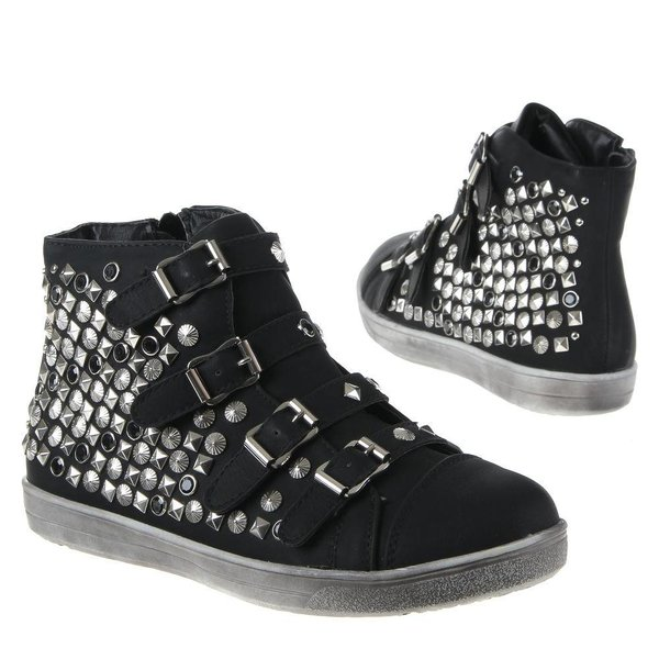 Trendy Sneakers met Studs Zwart