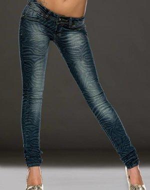 Trendy Jeans met Opvallend Design Blauw Indigo