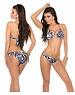 Neckholder Bikini Set met Kettingbandjes Zebra