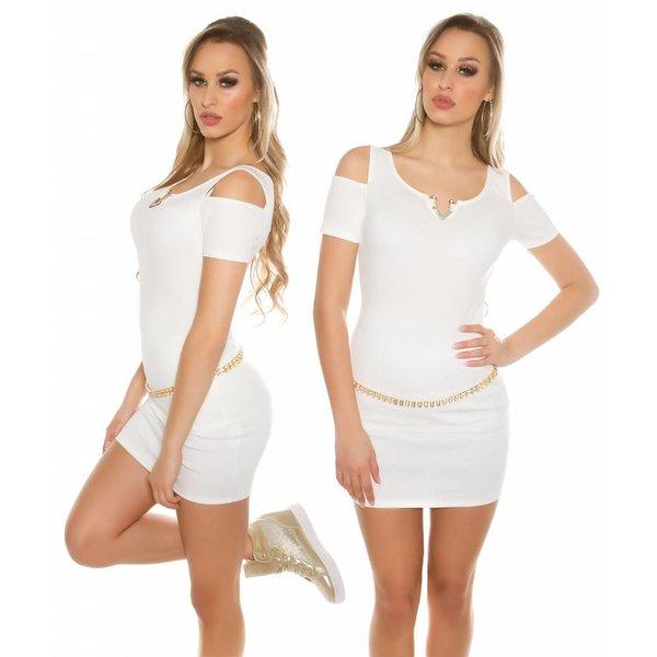Fashion Topje met Open Schouders Wit