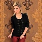 Kashmir Sweater / Cardigan Zwart