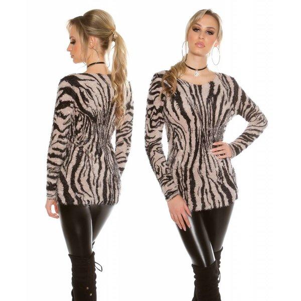 Knuffelzachte Fashion Pullover Beige