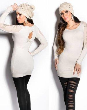 Fashion Trui met Fonkelende Steentjes Wit