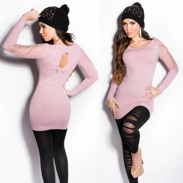 Fashion Trui met Fonkelende Steentjes Baby Roos