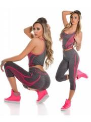 2-Delige Gym Legging Set Pink