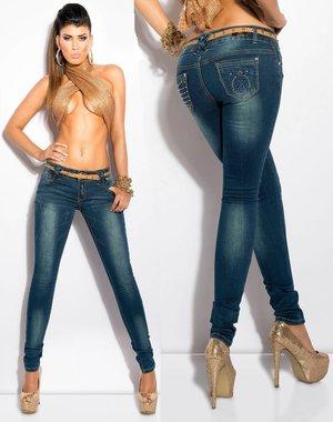 Skinny Jeansbroek met Riem