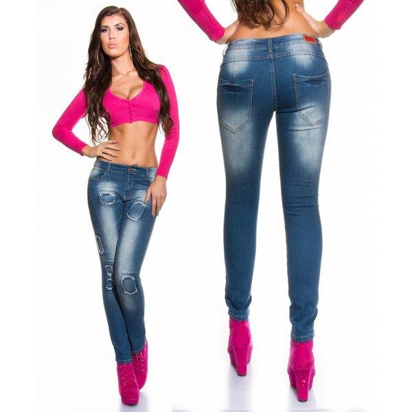 Skinny Jeansbroek in Gewassen Look