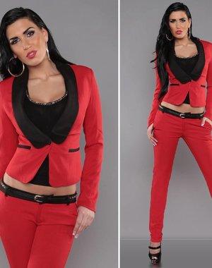 Getailleerde Fashion Blazer Rood