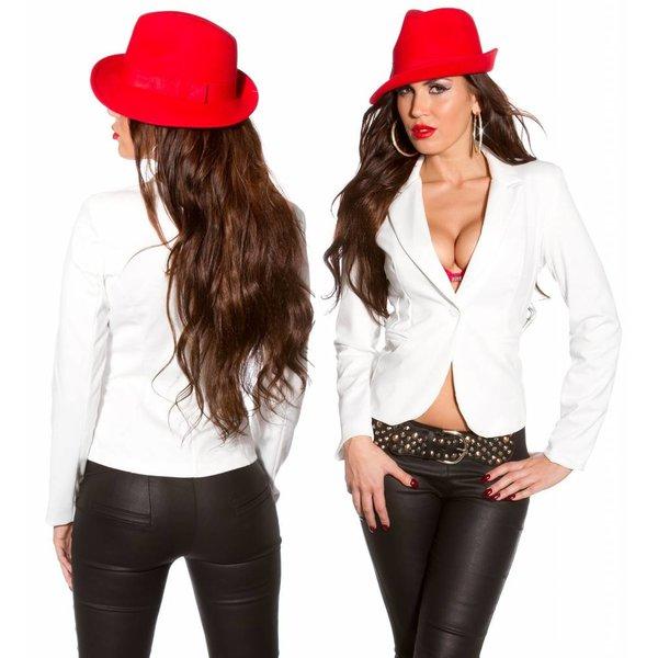 Getailleerde  Fashion Blazer Wit