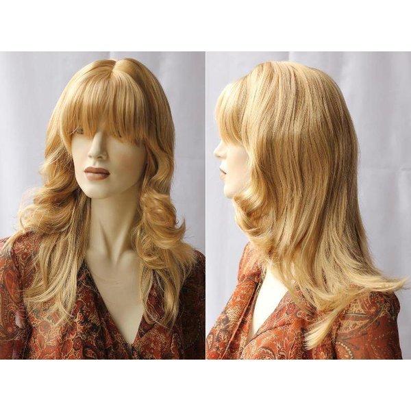 Lange Pruik Blondmix Haar