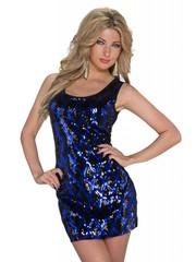 Getailleerde Fashion Jurk Royal Blauw / Zwart