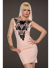 Fashion Jurk met Kant Decoratie Roos