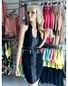 Neckholder Fashion Jurk Zwart