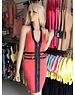 Neckholder Fashion Jurk Coral