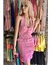 Neckholder Fashion Jurk Licht Pink