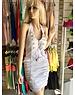 Neckholder Fashion Jurk Wit