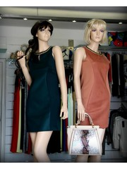 Fashion Jurk met Ketting Detail