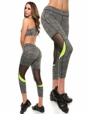 Trendy Sport Legging Neon Groen