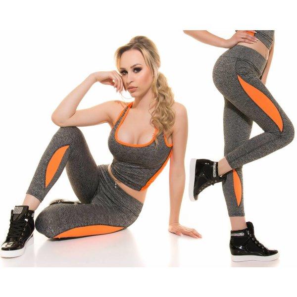 Trendy Sport Legging Neon Oranje