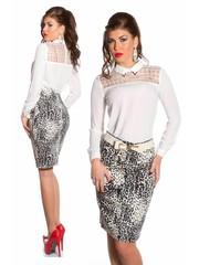 Fashion Taille Rok met Leoprint