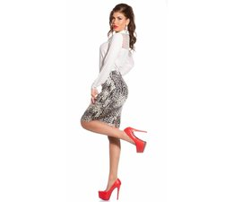 Fashion Taille Rok met Leoprint