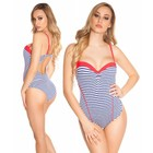 Push-Up Monokini met Softcups Coral