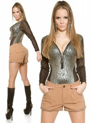 Fashion Short met Stekzakken Caramel