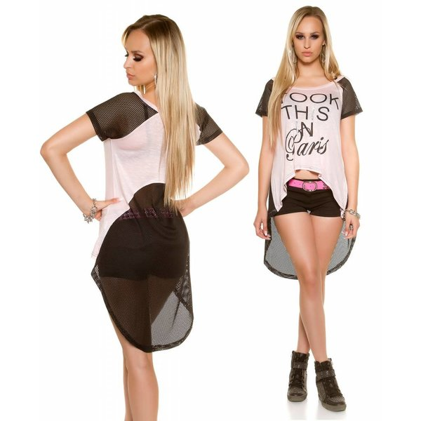 Fashion Shirt Halflange Mouwen Roos