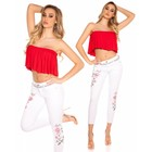 Strapless Fashion Topje Rood