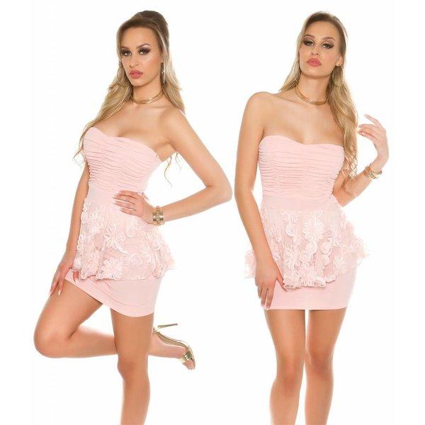 KouCla Strapless Fashion Jurk Apricot