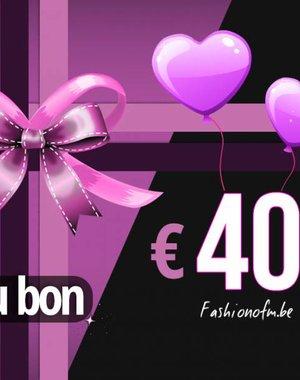 Cadeaubon € 40