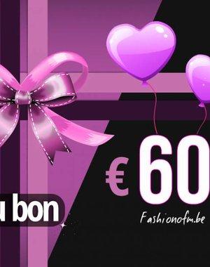 Cadeaubon € 60