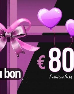 Cadeaubon € 80