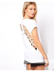 Angel Wings T-shirt met Scheuren Wit