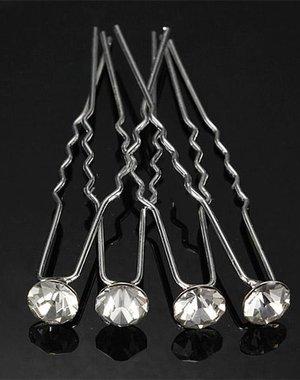 Zilverkleurige Hairpins Wit 10 stuks