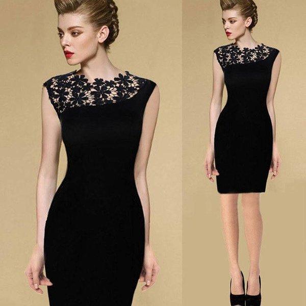 Nauwaansluitende Fashion Jurk Zwart