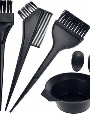 6-delige Kleuren Set Zwart