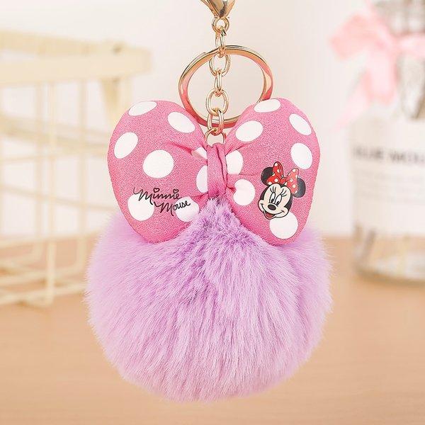 Minnie Mouse Ponpon Sleutelhanger
