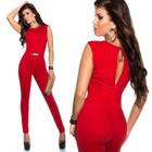 Elegante Jumpsuit met Gouden Gesp Rood