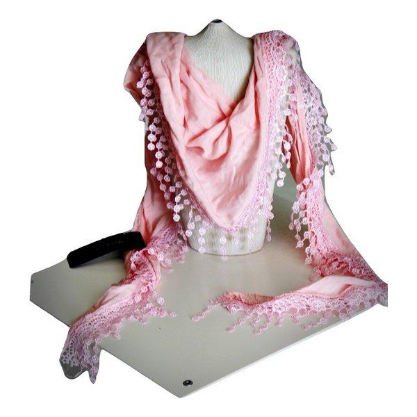 Soepelzachte Sjaal Roos